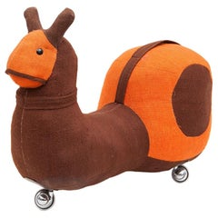1970s High-Quality Children Toy 'Skate Snail' by German Renate Müller