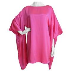 1970s Holly's Harp Silk Draped Sleeve Dress