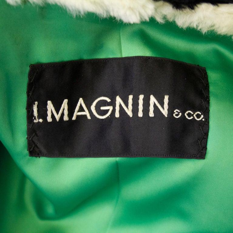 1970's I Magnin & Co. Sheared Beaver Mini Coat For Sale 1