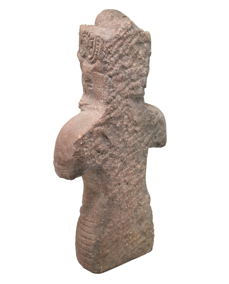 1970s Indian Khajuraho Love Temples Torso Hand Carved Sandstone Sculpture In Good Condition For Sale In Malaga, ES