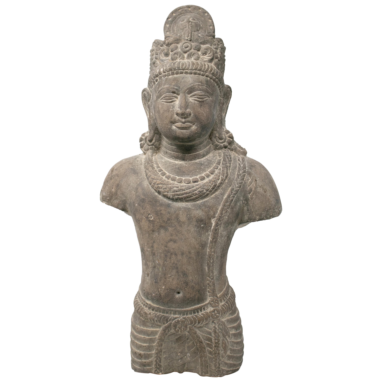 1970s Indian Khajuraho Love Temples Torso Hand Carved Sandstone Sculpture
