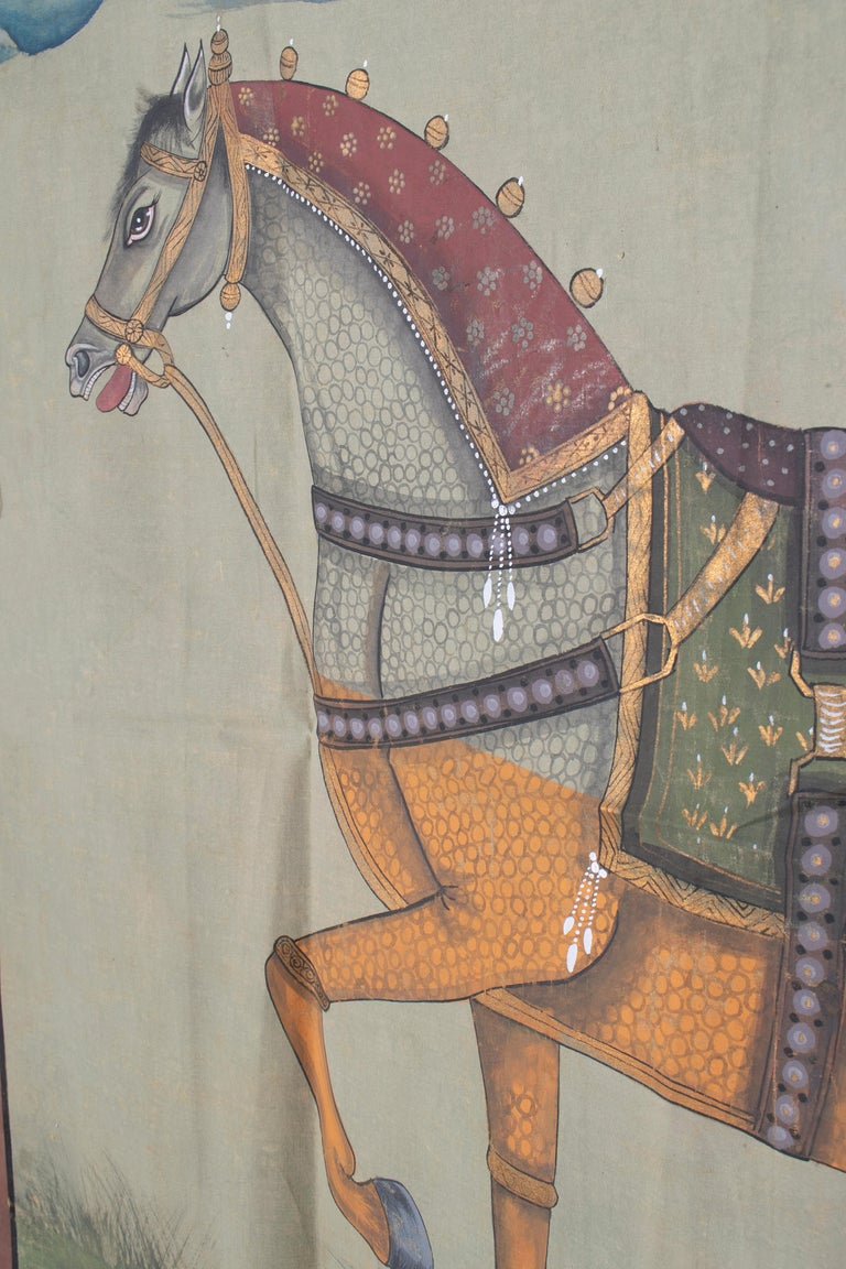 Hand-Painted 1970s Indian Painting