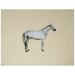 1970s Indian Paper Drawing of a Horse