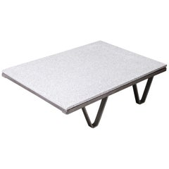 1970s Industrial Low Occasional, Coffee Table, Terrazzo Top