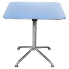 1970s Industrial Outdoor Blue Folding Table
