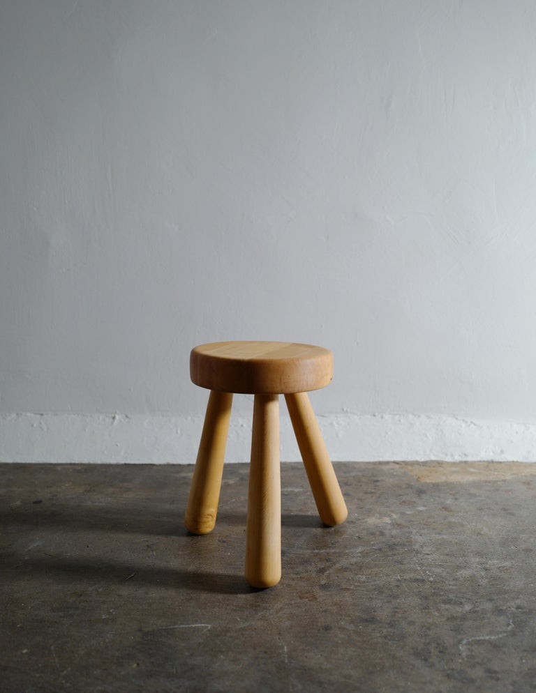Rare stool by Ingvar Hildingsson stool in birch. In good vintage condition with minimal signs from use.