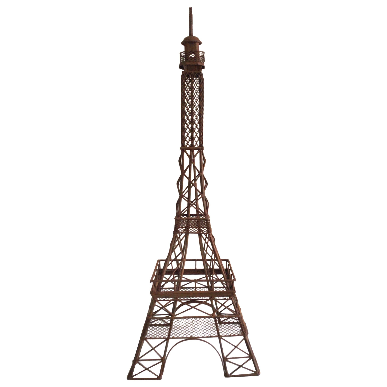 1970s Iron Eiffel Tower Sculpture