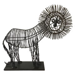1970s Iron Lion Sculpture