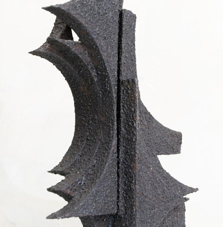 1970s Italian Abstract Steel Sculpture By Antonio Murri 6