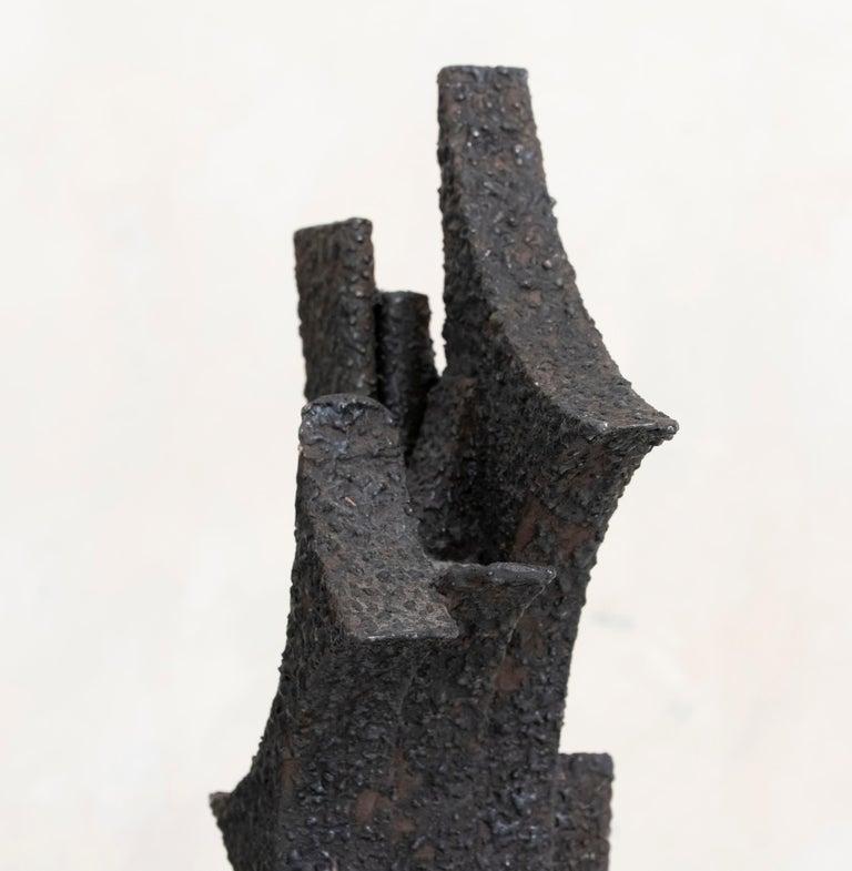 1970s Italian Abstract Steel Sculpture By Antonio Murri 7