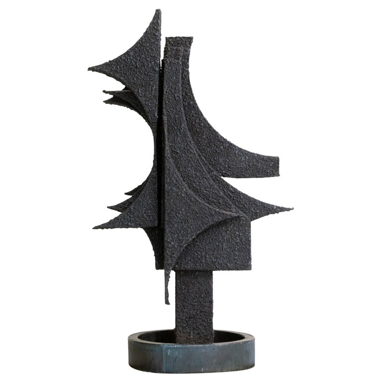 1970s Italian Abstract Steel Sculpture By Antonio Murri