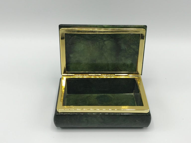 1970s Italian Alabaster and Brass Box For Sale 1