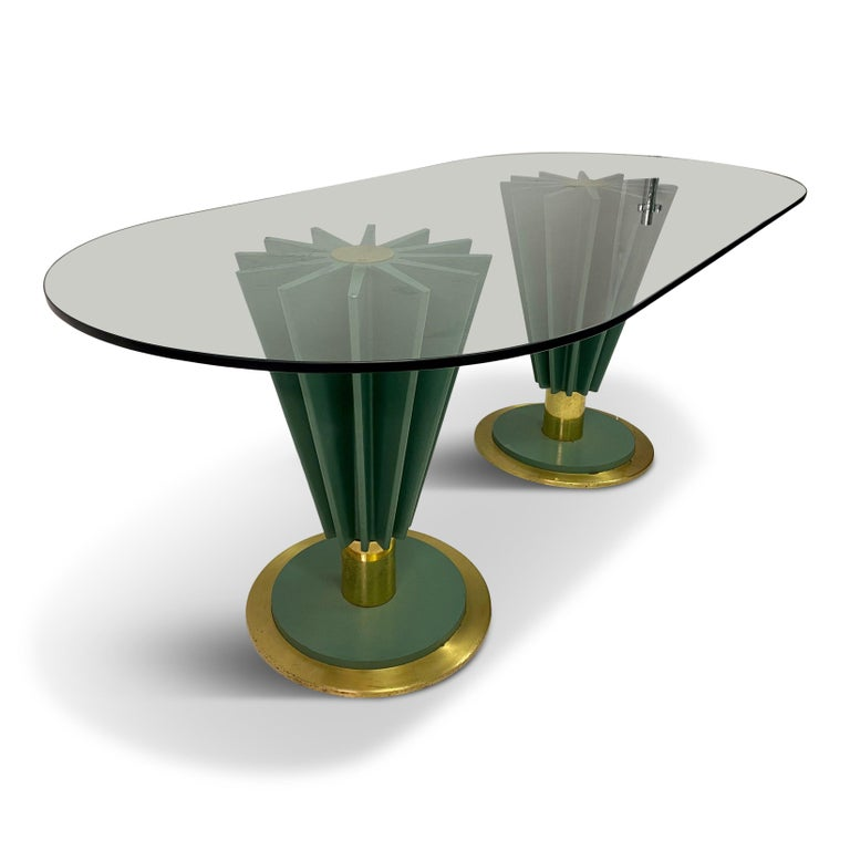 1970s Italian Brass and Iron Dining Table by Pierre Cardin In Good Condition For Sale In London, London