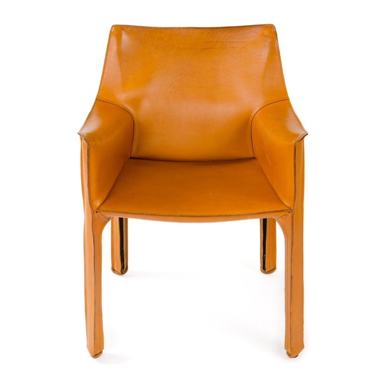 Mid-Century Modern 1970s Italian Cab Lounge Chair by Mario Bellini for Cassina For Sale
