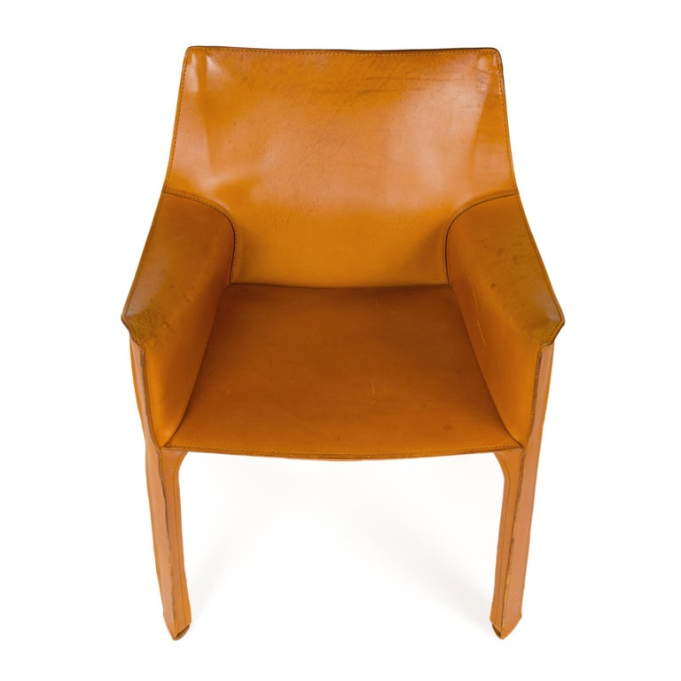 1970s Italian Cab Lounge Chair by Mario Bellini for Cassina In Good Condition For Sale In Sagaponack, NY
