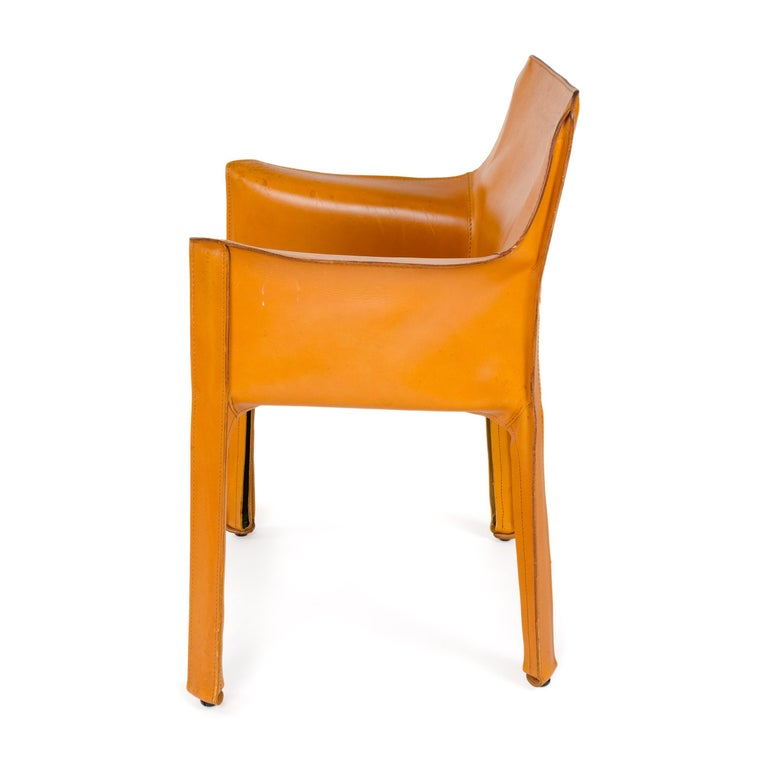 Late 20th Century 1970s Italian Cab Lounge Chair by Mario Bellini for Cassina For Sale