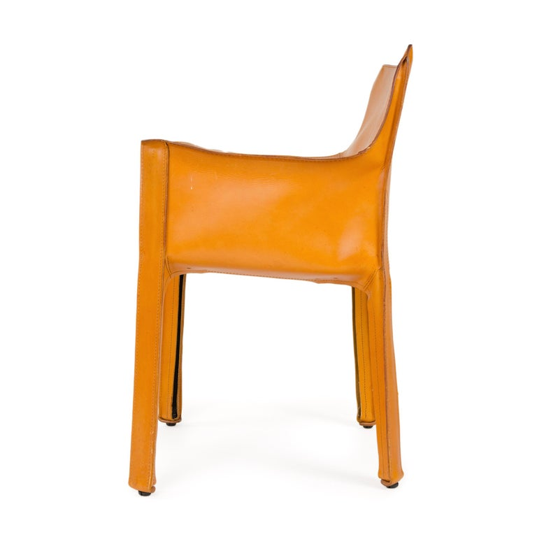 Leather 1970s Italian Cab Lounge Chair by Mario Bellini for Cassina For Sale
