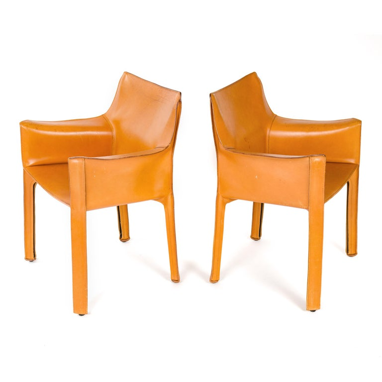 1970s Italian Cab Lounge Chair by Mario Bellini for Cassina For Sale 3