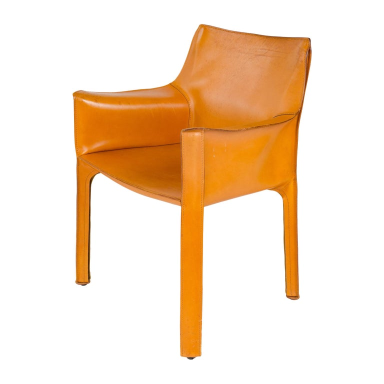 1970s Italian Cab Lounge Chair by Mario Bellini for Cassina For Sale