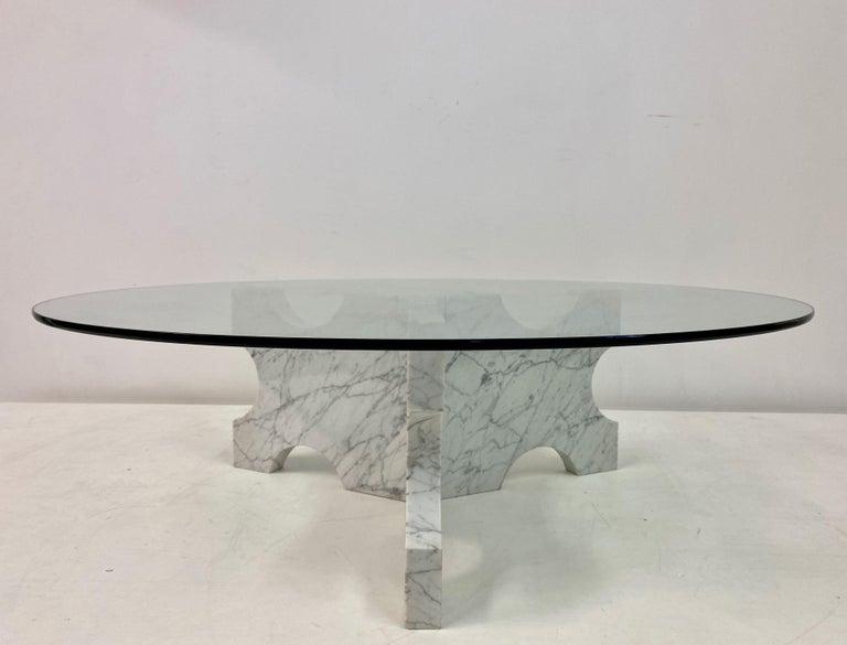 1970s Italian Carrara Marble Coffee Table For Sale 5