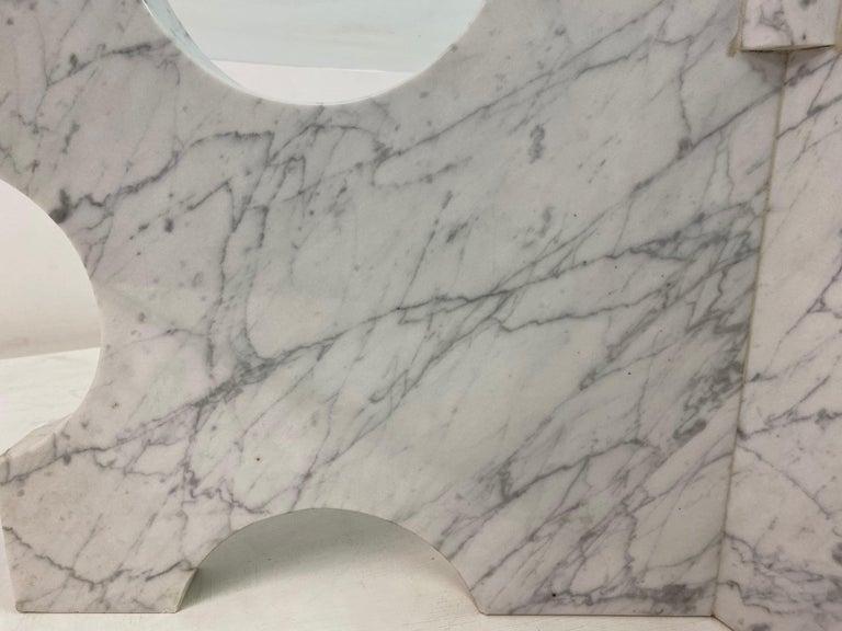 1970s Italian Carrara Marble Coffee Table For Sale 1