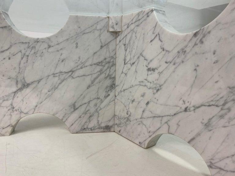1970s Italian Carrara Marble Coffee Table For Sale 2