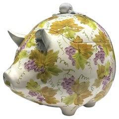 1970s Italian Ceramic Pig Tureen