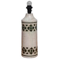 1970s Italian Ceramic Table Lamp by Bitossi for Bergboms