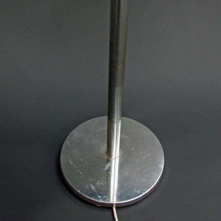 1970s Italian Chromed Steel and Glass Floor Lamp Albano Poli for Poliart In Good Condition For Sale In Nottingham, Nottinghamshire