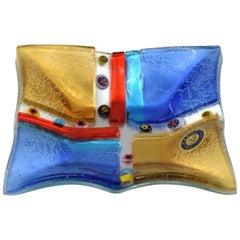 1970s Italian Colorful Ashtray in Murano Glass