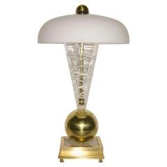 1970s Italian Custom Made Murano Glass Lamp Attributed to Vistosi
