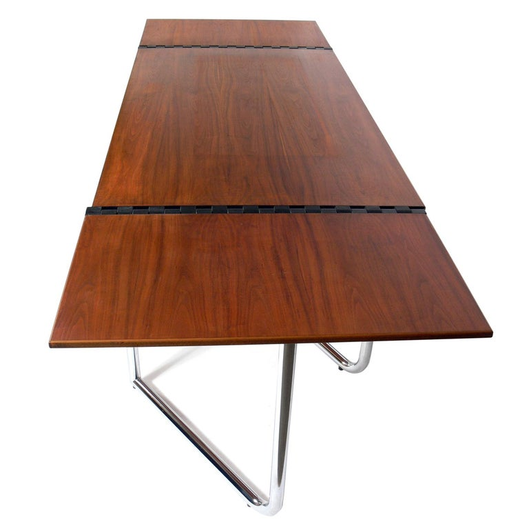 1970s Italian Drop Leaf Dining Table or Desk In Good Condition For Sale In Atlanta, GA