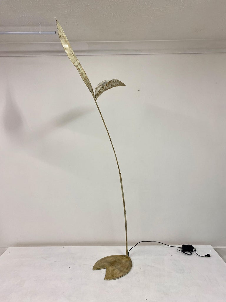 Forged 1970s Italian Floor Lamp by Salvino Marsura For Sale