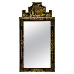1970s Italian Giltwood Chinoiserie Mirror Attributed to Friedman Brothers