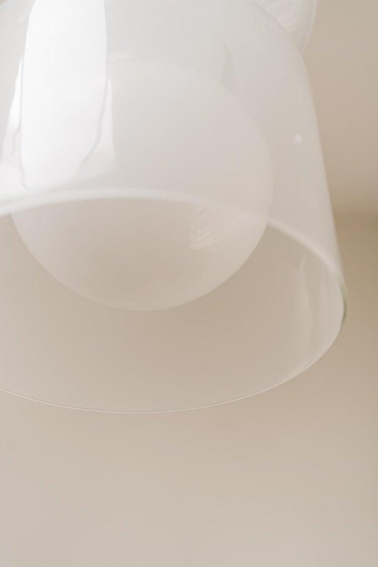 1970's Italian Glass Pendant Lamp In Good Condition For Sale In Brecht, BE