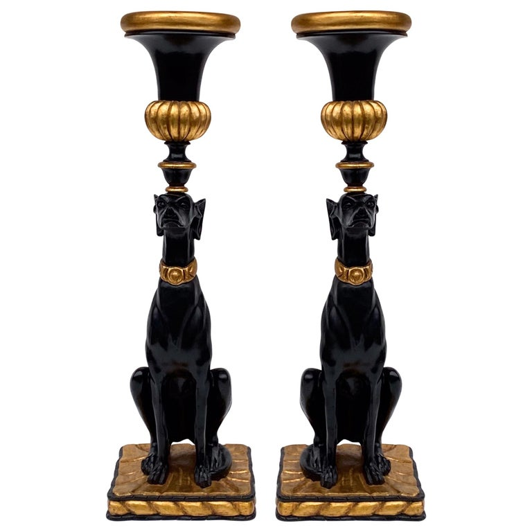 1970s Italian Hollywood Regency Style Seated Greyhounds with Planters, a Pair For Sale