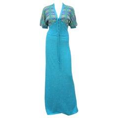 1970's Italian Knit Halter Maxi Dress & Jacket