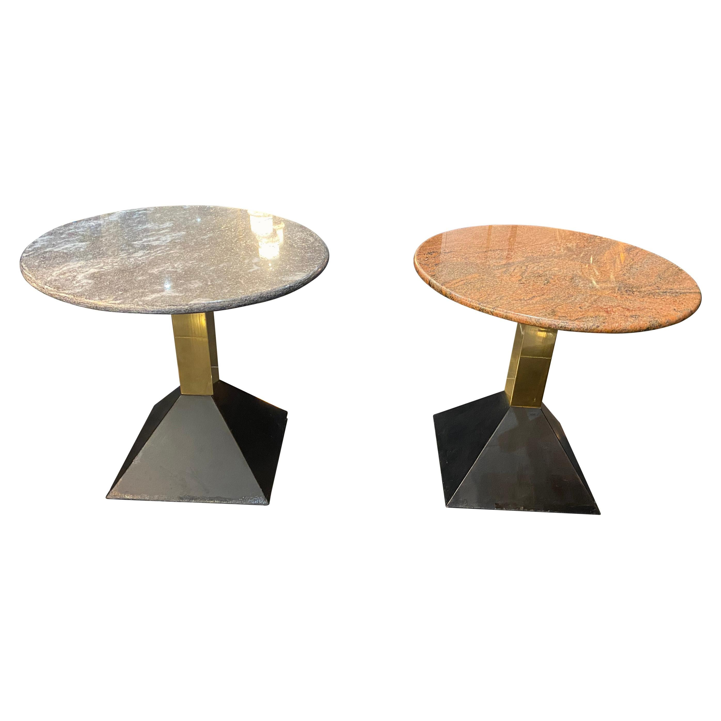 1970s Italian Marble Top Cocktail Table