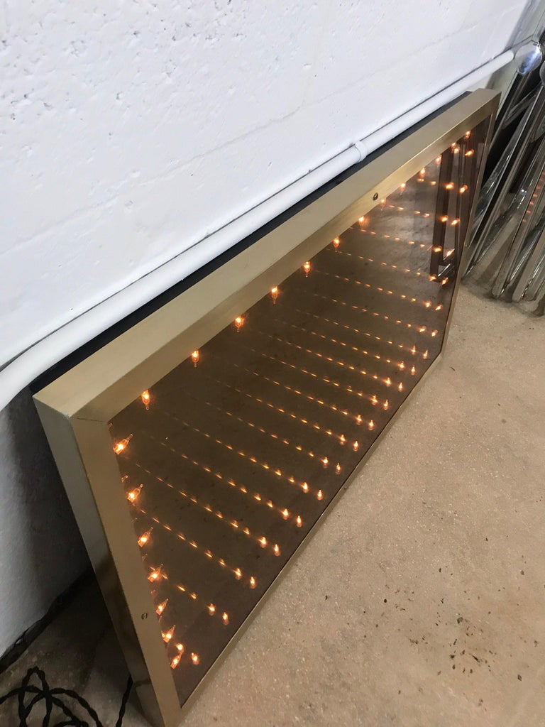 20th Century 1970s Italian Modern Infinity Mirror For Sale