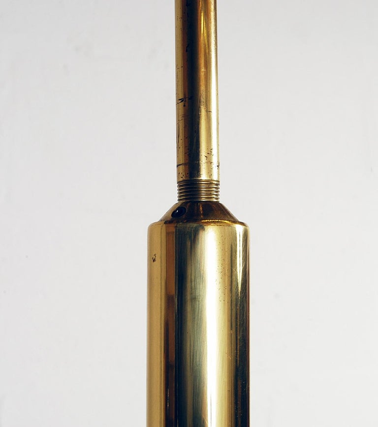 1970s Italian Modernist Brass and Chrome Ceiling Lamp by Gaetano Sciolari For Sale 3