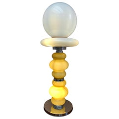 1970s Italian Murano Glass Floor or Large Table Lamp Carlo Nason for Mazzega