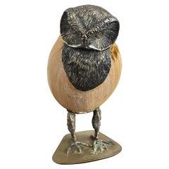 1970s Italian Owl Sculpture Att. Gabriella Binazzi