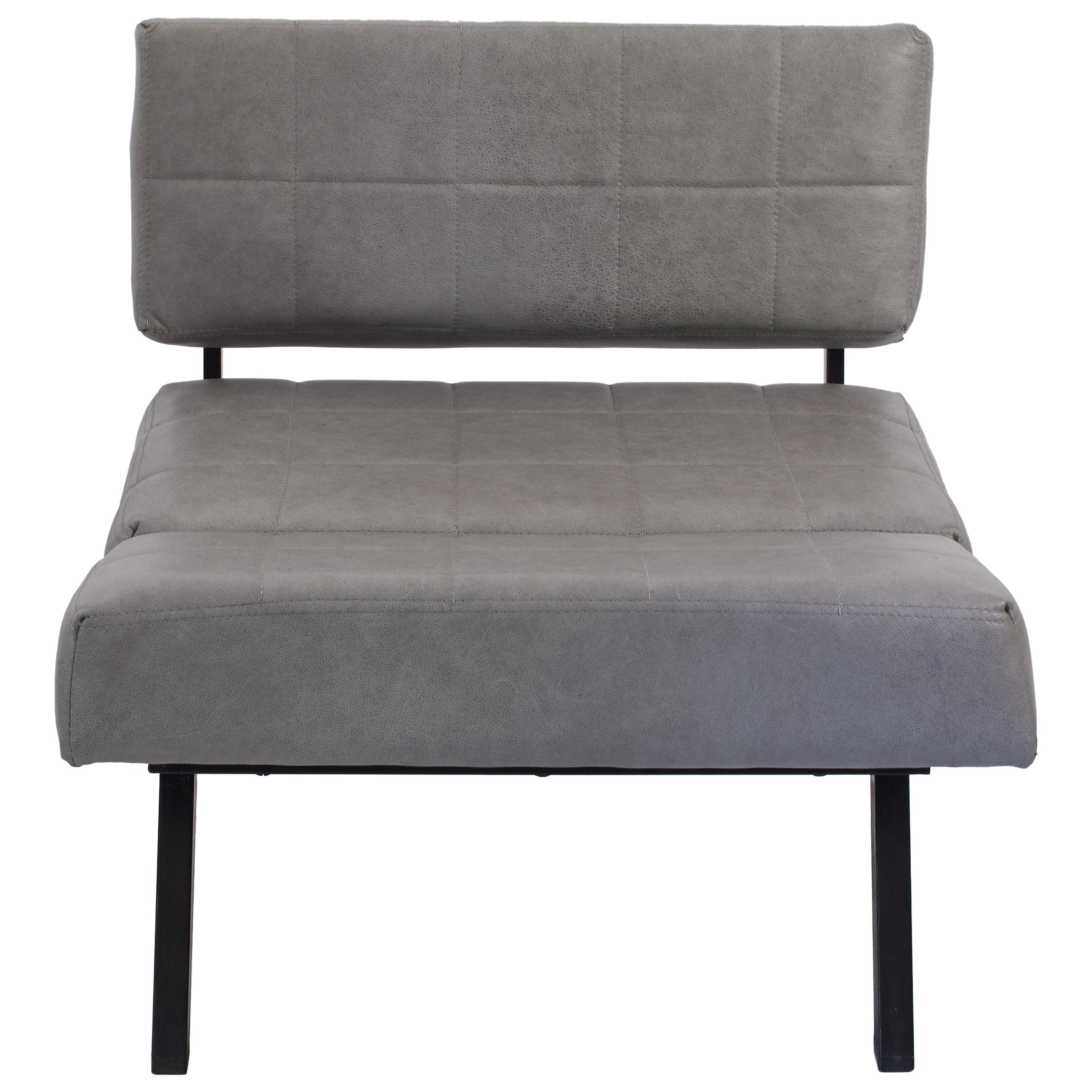 Bon 1970s Italian Pair Of Chairs Convertible To Bench In Grey Leather