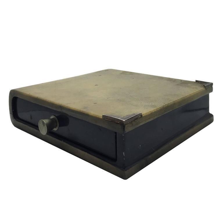 1970s Italian Parchment Book Box by Aldo Tura In Good Condition For Sale In Stamford, CT