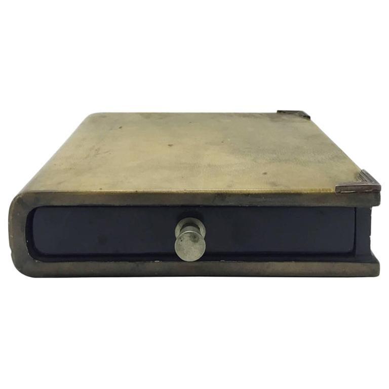 1970s Italian Parchment Book Box by Aldo Tura For Sale