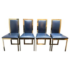 1970s Italian Romeo Rega Set of 4 Dining Chairs