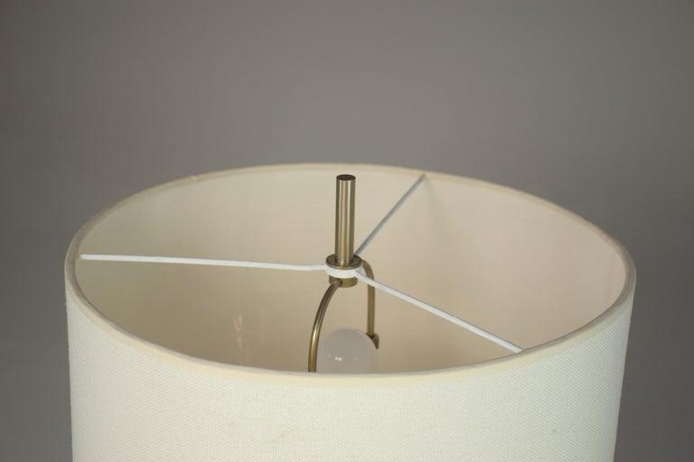 Stainless Steel 1970's Italian Stilnovo Table Lamp For Sale