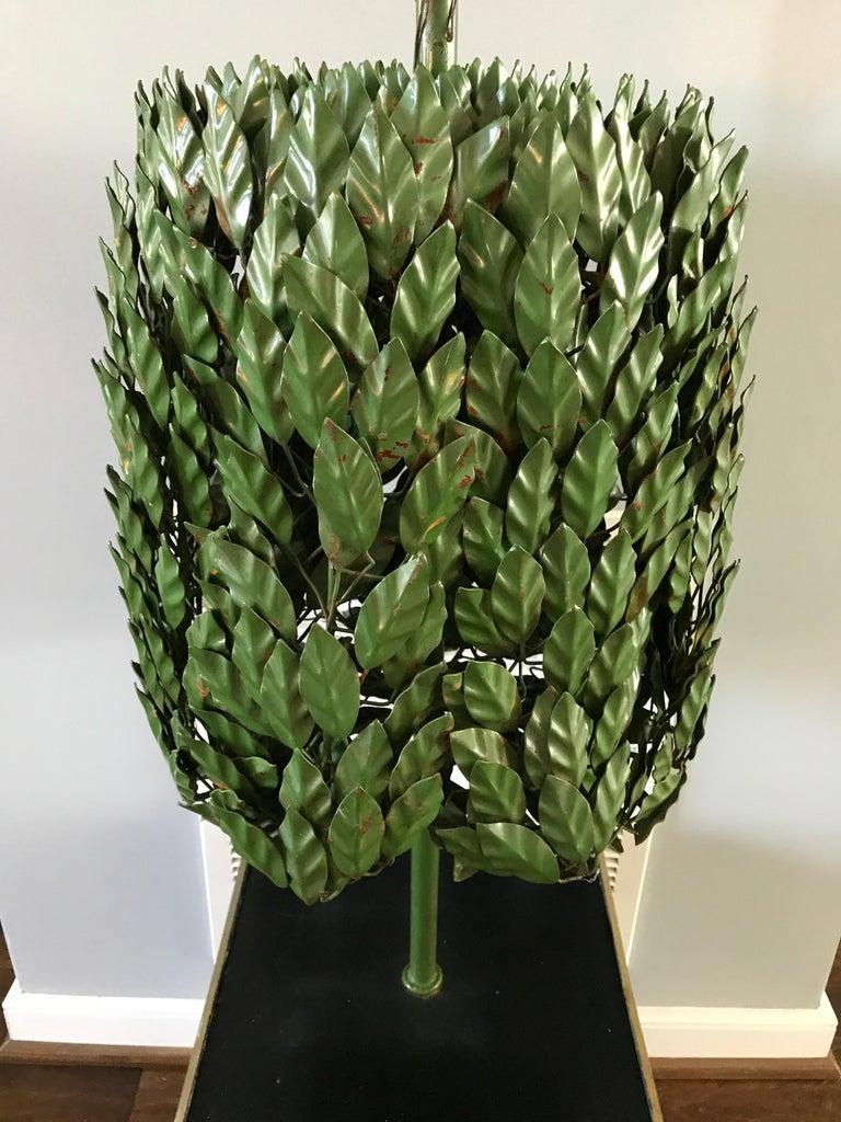 1970s Italian Tole Life-Size Topiary Sculpture In Good Condition For Sale In Richmond, VA