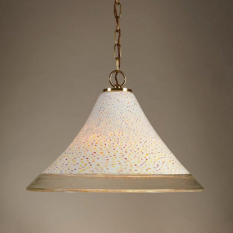 Mid-Century Modern 1970s Italian Tutti Frutti Glass Pendant Light For Sale