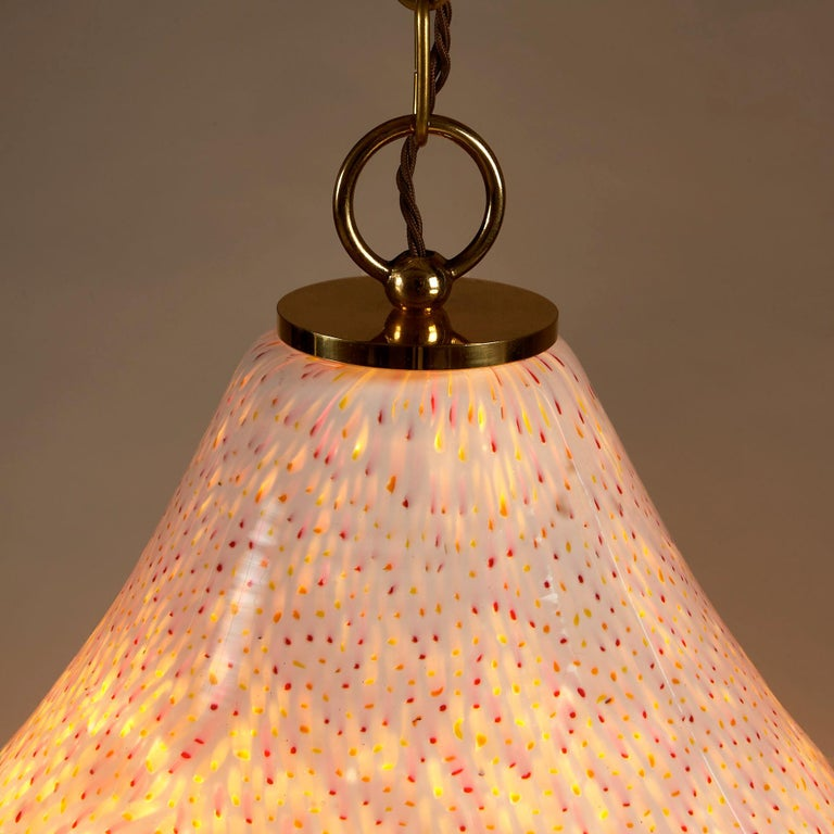 1970s Italian Tutti Frutti Glass Pendant Light For Sale 2